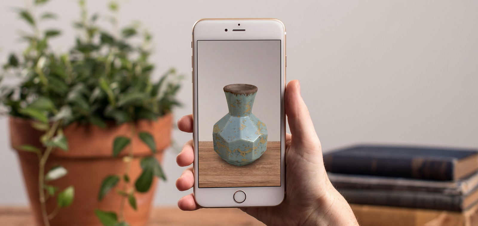 Viewing a vase in 3D