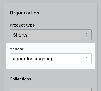Select a vendor from the drop-down menu