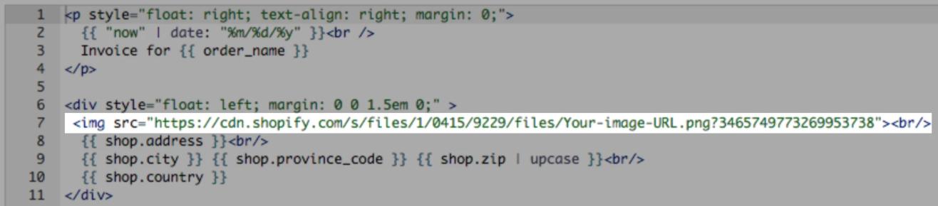 customizing order printer templates order printer shopify help example html code